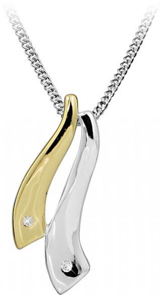 Art Diamond Stříbrný náhrdelník s diamantem DAGS810/50