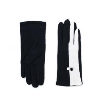 Art Of Polo Womans Gloves rk17581 Black/Ecru dámské dwukolorowy One size