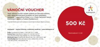 Asklepion Vánoční voucher 500Kč
