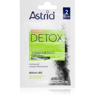 Astrid CITYLIFE Detox čisticí maska s aktivním uhlím 2x8 ml dámské 2x8 ml