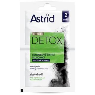 ASTRID Citylife Detox Hloubkově čisticí slupovací pleťová maska 2× 8 ml