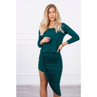 Asymmetric dress, 3/4 sleeve green dámské Neurčeno One size