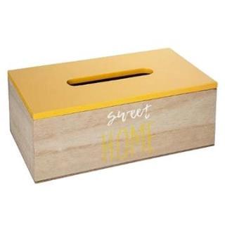 ATMOSPHERA Home box na kapesníky - žlutý