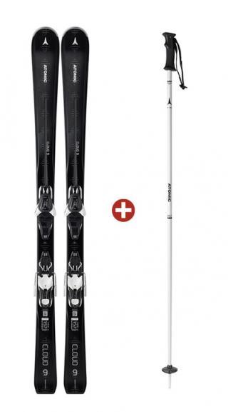 Atomic Dámské sportovní sjezdové lyže Cloud 9 a sjezdové hole Cloud W ZDARMA Délka holí: 115 / Délka lyže: 150 cm