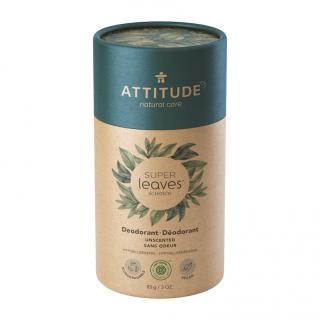 ATTITUDE Přírodní tuhý deodorant Super leaves - bez vůně 85 g zelená