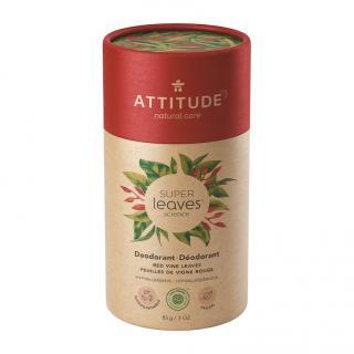 ATTITUDE Přírodní tuhý deodorant Super leaves - červené vinné listy 85 g červená