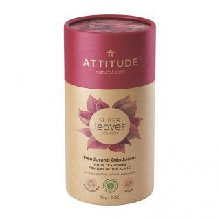 ATTITUDE Přírodní tuhý deodorant Super leaves - listy bílého čaje 85 g fialová