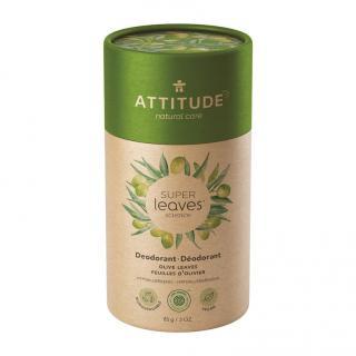 ATTITUDE Přírodní tuhý deodorant Super leaves - olivové listy 85 g zelená