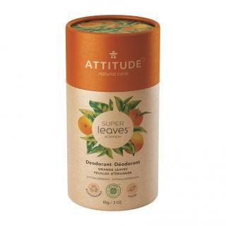 ATTITUDE Přírodní tuhý deodorant Super leaves - pomerančové listy 85 g oranžová