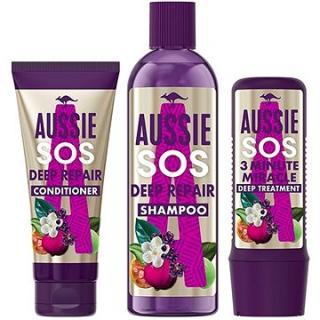 AUSSIE Hair SOS Set Shampoo 290 ml   Conditioner 200 ml   Mask 225 ml