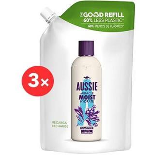 AUSSIE Miracle Moist Hydratační Šampon Náhradní náplň 3 × 480 ml