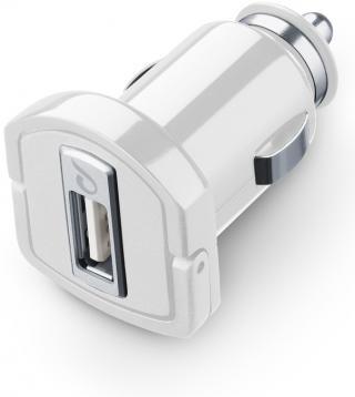 Autonabíječka Cellularline Ultra, 1xUSB, 10W/2,1A, bílá