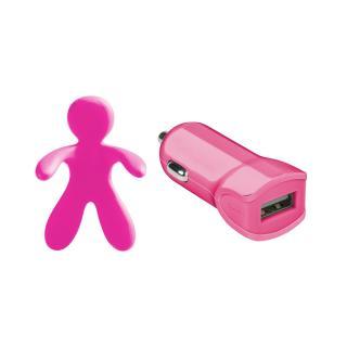 Autonabíječka Celly Giulio & Cesare   osvěžovač vzduchu, 1A růžový