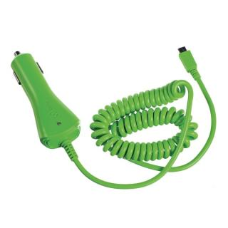 Autonabíječka CELLY s konektorem microUSB, výstup 1A, zelená
