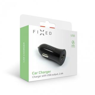 Autonabíječka FIXED s USB výstupem, 12W, černá
