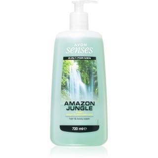 Avon Senses Amazon Jungle sprchový gel na tělo a vlasy pro muže 720 ml pánské 720 ml