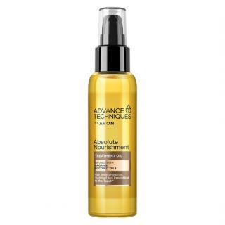 Avon Vyživující olej na vlasy s arganovým a kokosovým olejem  100 ml dámské