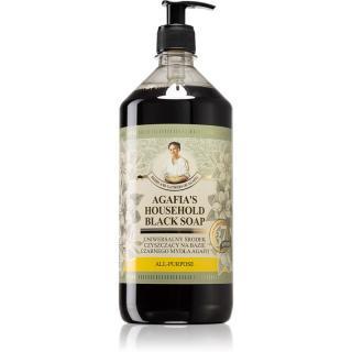 Babushka Agafia Agafias Household Black Soap tekuté univerzální mýdlo 1000 ml dámské 1000 ml