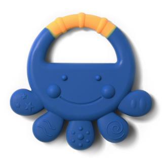 BABY ONO Kousátko silikonové chobotnice Vicky 6m  modrá