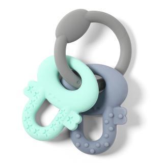 BABY ONO Kousátko silikonové Ortho klíče 0 m  mix barev