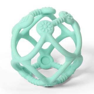 BABY ONO Kousátko silikonové Ortho míček 0 m  mint zelená