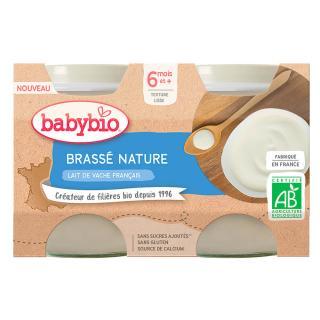 BABYBIO Brassé z francouzského mléka natur 2x130 g oranžová