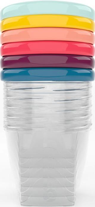 BABYMOOV Misky s víčky 250 ml, sada 6 ks mix barev