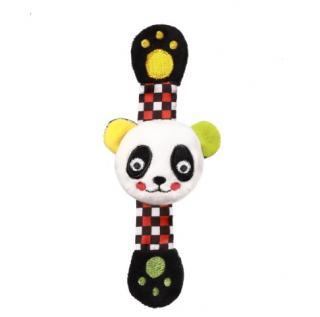 BABYONO Chrastítko na ruku C-MORE panda Archie mix barev