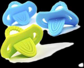 BABYONO Elastické kousátko 2 ks mix barev