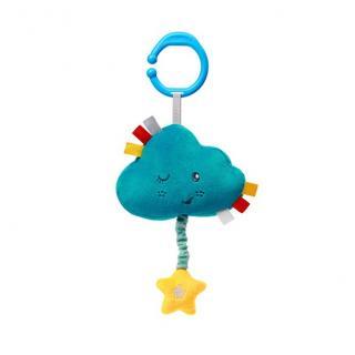 BABYONO Hračka hudební na C kroužku Lullaby Cloud 0 m  modrá