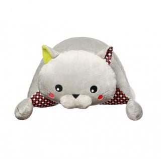BABYONO Hračka polštářek C-MORE kočka Bruno 44x17 cm bílá