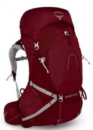 Backpack OSPREY AURA AG 50 II gama red 47 litrů