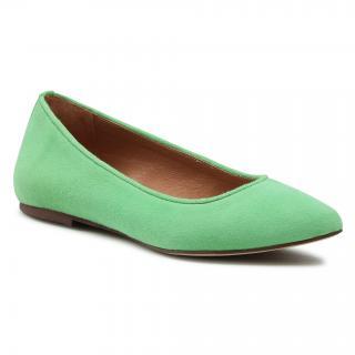 Baleríny R.POLAŃSKI - 727 Zielony Zamsz dámské Zelená 40