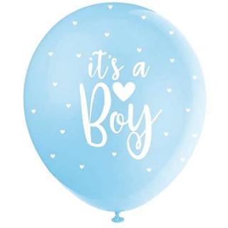 Balónky latexové - it´s a boy - kluk - modro-bílé  - 5 ks - 30 cm