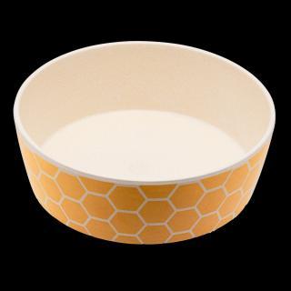 Bambusová miska BecoBowl, včelí plast L