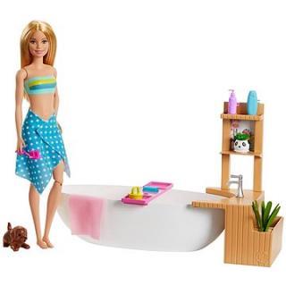 Barbie Wellness panenka v lázních herní set