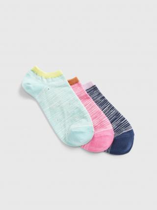 Barevné dámské ponožky GAP 3-Pack dámské modrá ONE SIZE