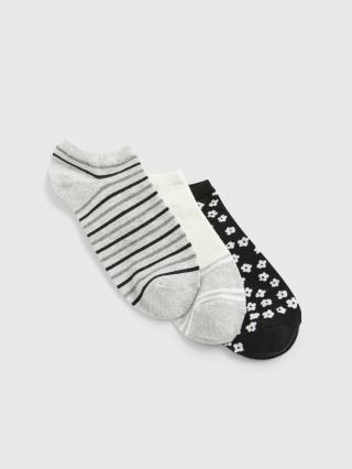 Barevné dámské ponožky GAP 3-Pack dámské šedá ONE SIZE