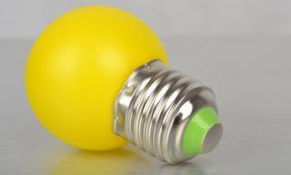 Barevné LED žárovky E27 1/3/5 W - 5 barev Barva: žlutá, Příkon: 1W