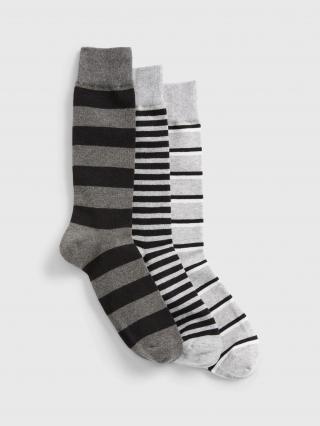 Barevné pánské ponožky GAP 3-Pack pánské černá ONE SIZE
