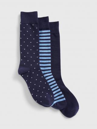 Barevné pánské ponožky GAP 3-Pack pánské modrá ONE SIZE