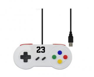Barevný Gamepad s USB - 5 barev Barva: bílá