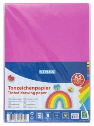 Barevný papír A5 40 listů 200g/m2