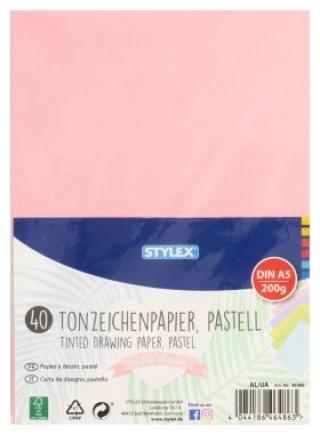 Barevný papír pastel A5 40 listům 200g/m2