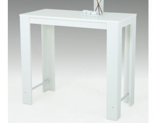 Barový stůl Frieda 120x58 cm, bílý Bílá