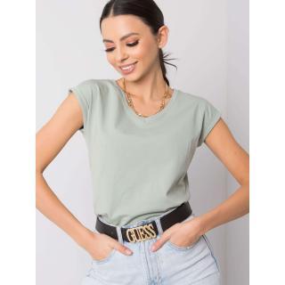 Basic pistachio t-shirt for women dámské Neurčeno M