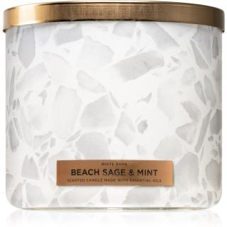 Bath & Body Works Beach Sage & Mint vonná svíčka 411 g 411 g