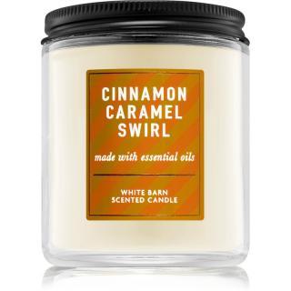 Bath & Body Works Cinnamon Caramel Swirl vonná svíčka I. 198 g 198 g