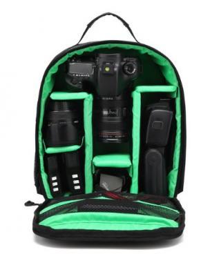 Batoh na fotoaparát a příslušenství Barva: zelená