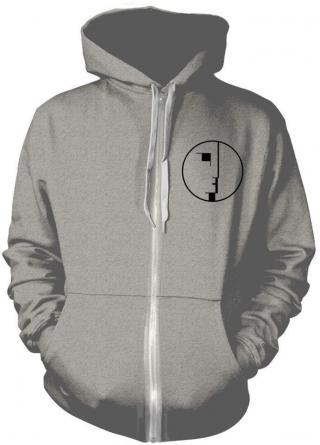 Bauhaus Logo Grey Hooded Sweatshirt with Zip L pánské L